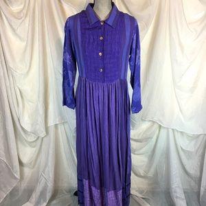 Citron Santa Monica Size Small Shirt Dress Purple
